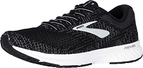 Brooks Women's Revel 3 Black/Blackened Pearl/White 8.5 B US