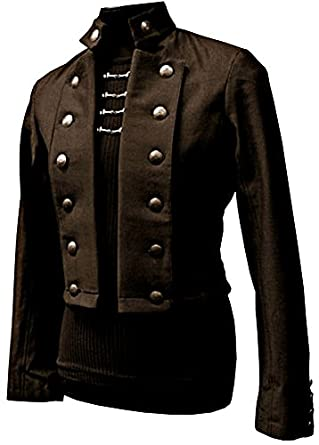 Men's Steampunk Jackets, Coats & Suits Shrine Gothic Vintage Military Army Victorian Steampunk Pirate Coat Jacket $229.99 AT vintagedancer.com