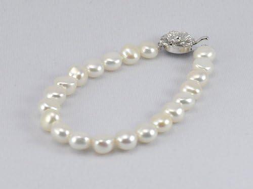 淡水真珠ブレスレットホワイト・18cm y-v-011