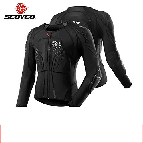 SCOYCO Motorbike Racing Body Armor Riding Motorcycle Protective Gear Absorbent Slow Rebound Breathable Motocross Stretch Jacket (Large)