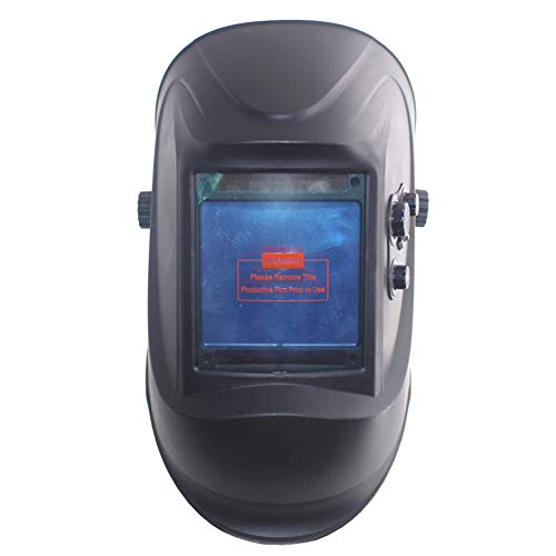 Welding Mask, Auto Darkening DIN5-DIN13 Solar LCD Display Out Control Face Protective Mask with 4 Sensor Probe(Black) ()
