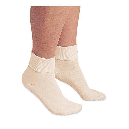 - Women's Buster Brown 100 Percent Cotton Socks (3 Pair Package) - Cream - Medium