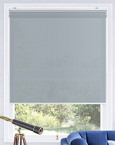 CHICOLOGY Snap-N'-Glide Cordless Roller Shades Smooth Privacy Window Blind, 48