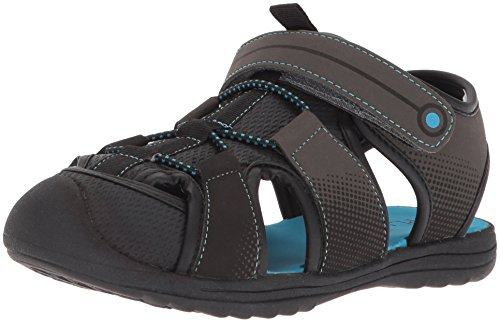 The Children's Place Boys' E BB Grizzly Flat Sandal, Grey, Youth 6 Medium US Infant