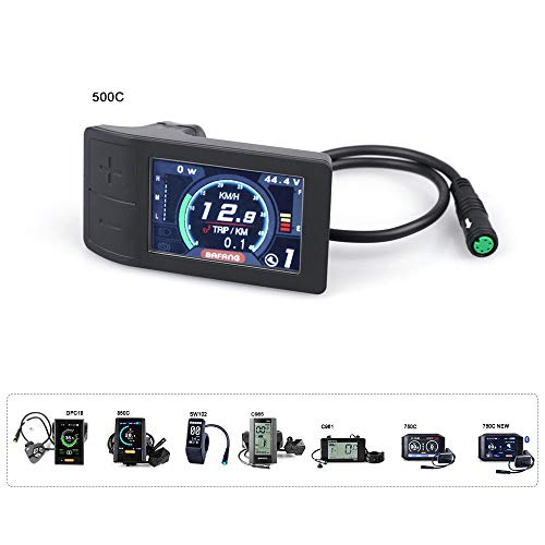 BAFANG 8fun LCD 750C 850C C18 C965 C961 DPC07 KD718 Display Available for Electric Bicycle BBS02 and BBSHD Motor (TFT-500C)