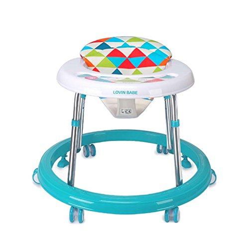 Baby Walkers With Wheels Multi-Function Child Anti-Rollover Baby One-Touch Folding Learn To Drive 3Rd Gear Adjustable