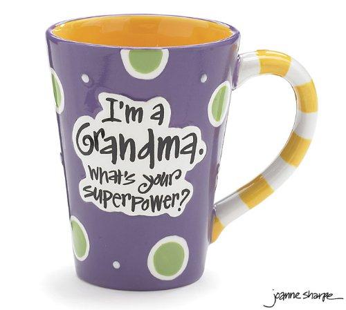 Burton 9716068 I'm A Grandma, What's Your Super Power, Coffee Mug, 12 oz. Purple