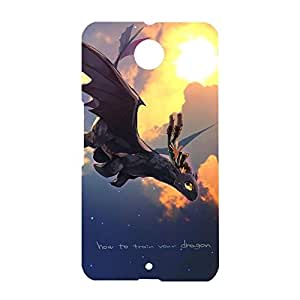 Unique Visual How To Train Your Dragon Phone Case for Google Nexus 6,Comic Movies Style 3D How To Train Your Dragon Protect Case Cover