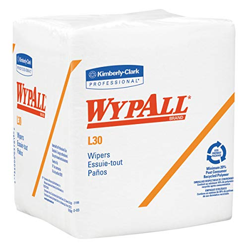 WypAll 05812 L30 Towels, Quarter Fold, 12 1/2 x 12, 90 per Box (Case of 12 Boxes) ()