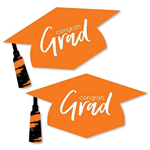 - Orange Grad - Best is Yet to Come - Graduation Hat Decorations DIY Orange Graduation Large Party Essentials - 20 Count