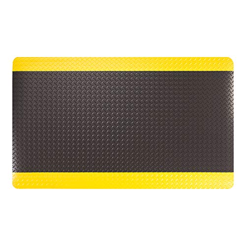 AmazonBasics Anti-Fatigue Mat Diamond Deckplate Composite Mat 15/16