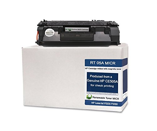 RT 05A CE505A Modified MICR Toner Cartridge for Check Printing on LaserJet P2035 P2055 series printers