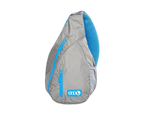 Eagles Nest Outfitters ENO Kanga Sling Backpack, Grey/Aqua by Eagles Nest Outfitters