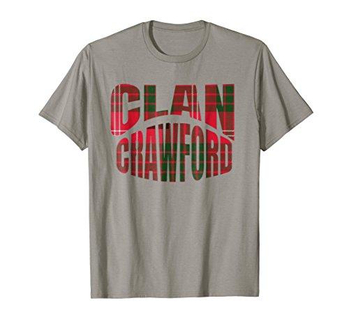 Crawford Clan Kilt Tartan T-Shirt Namesake Scotland gift ()