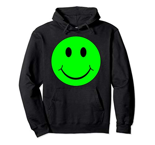Emoji Green Smiley Face Emoticon Disgusted Texting Pullover