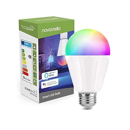 Novostella 13W 1300LM Smart LED Light Bulbs, Wifi RGBCW 2700K-6500K Dimmable Multicolor Bulb, A19 E26, 120W Equivalent Color Changing Bulb, No Hub Required, Compatible with Alexa, Google Home, 1 Pack