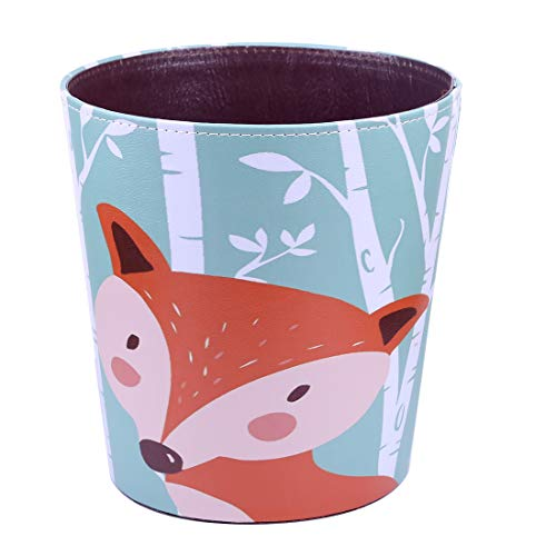(RuiyiF Waste Basket Deskside Decorative Farmhouse Trash Can withoud Lid for Bathroom Kids Room Girls Bedroom Garbage Cans for Kitchen Office Recycling Bin (Fox))