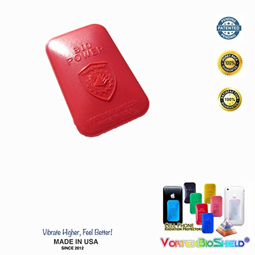 Neutralizes Heavy Metals (BEST EMF Protection Red Cell Phone EMF Radiation PROTECTOR Shield - EMF Protectors for All Mobile Phones | Tested No Headaches, Memory Loss, Stress, Fatigue)