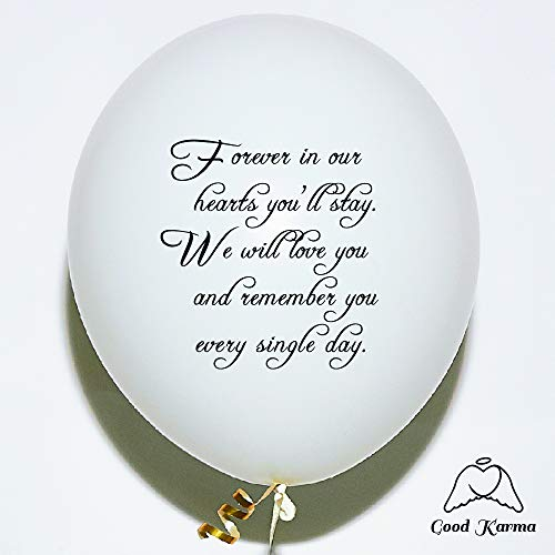 30pc White Remembrance Memorial Funeral Balloons Biodegradable Helium Quality for Balloon Releases