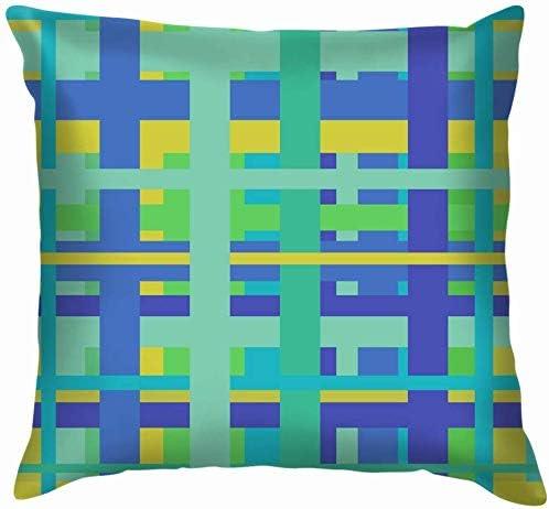 Funda de cojín Decorativa geométrica Lineal sin Fin de algodón Azul para el hogar Funda de Almohada para sofá sofá 45x45 cm: Amazon.es: Hogar