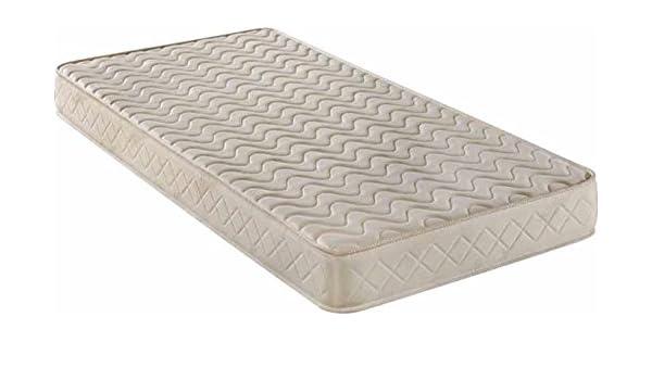 Colchón viscoelástica 2 cm, 105 x 190 enrollado, tejido damasco, transpirable: Amazon.es: Hogar