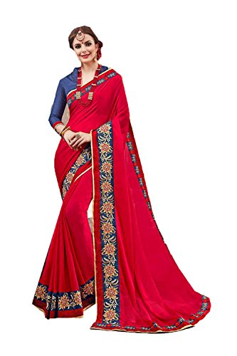 Designer 10 Wedding Wear Sari Red Sarees Facioun Indian amp;Amp; for Traditional Women Beige Party Da n1q4xCT