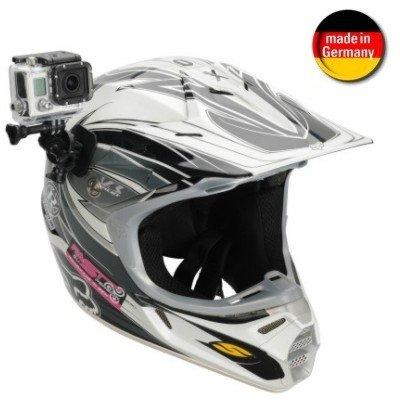 Smart-Planet® hochwertige GoPro Helm Halterung ActionCam / Camcorder - für gewölbte Flächen - für GoPro Hero 4 / 3+ / 3 / 2 / 1 & Co. --- Gopro Helmhalterung zur Befestigung an gewölbten Flächen (Helme etc.)
