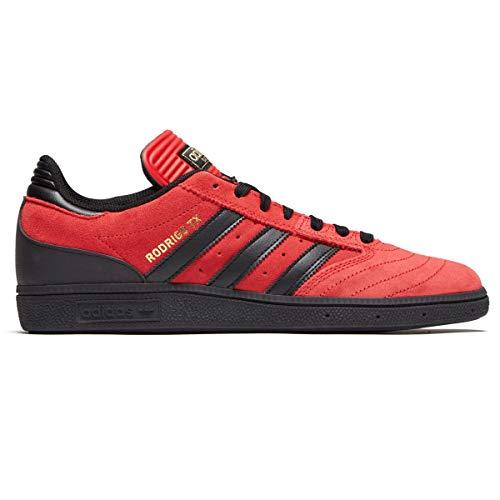 adidas Busenitz (Black/White/Scarlett) Men's Skate Shoes (8 D(M) US, Scarlett/Black/Gold Metallic)