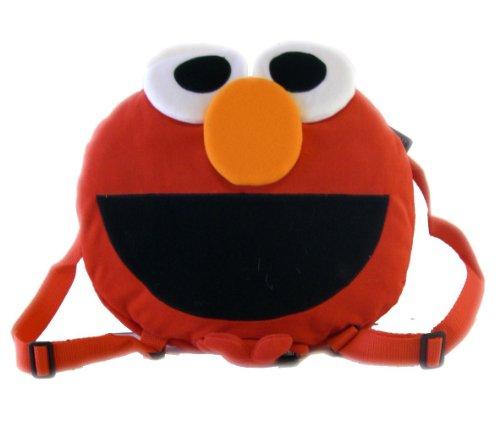 12in Round Elmo Backpack - Sesame Street Childrens Bag