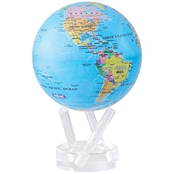 Globe Map Pictures.Amazon Com Mova 4 5 Blue With Political Map Globe Industrial
