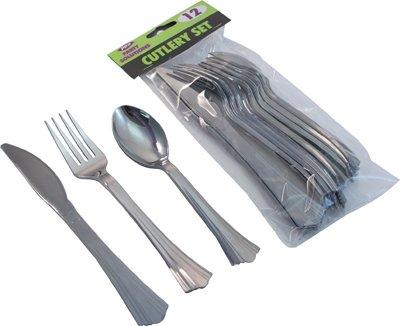 60 plata de color Metal Varios colores RE-USEABLE juego de cubertería de plástico - 20 cucharas, 20 cuchillos, tenedores 20 ideal para fiestas envío ...