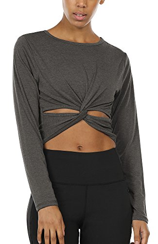 90 Discount On Icyzone Long Sleeve Crop Tops For Women Activewear