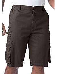 2c96b07638 Men's Big & Tall Side-Elastic Twill Cargo Shorts