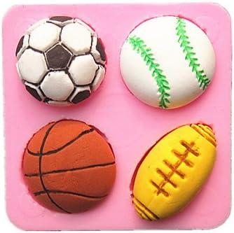 Fútbol Baloncesto Fútbol tenis pelota fondant cake moldes ...