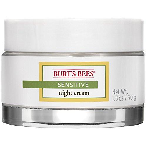 Hydration Night Cream (Burt's Bees Night Cream for Sensitive Skin, 1.8 Ounces)