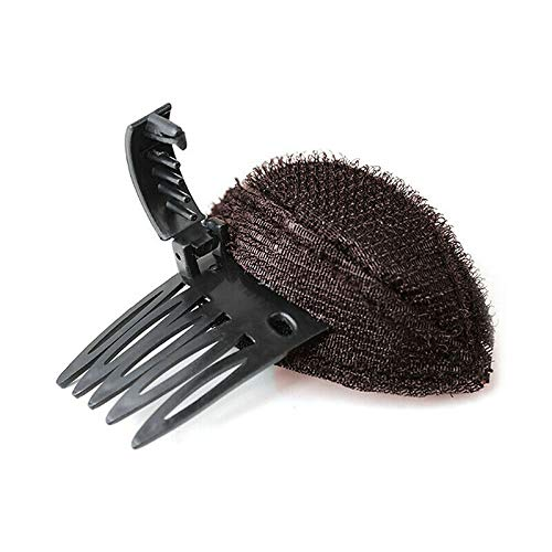 Hair Magic Styling Bump Foam Fluffy Puff Sponge Insert Base Pad Clip Comb Tool (Colors - Coffee)