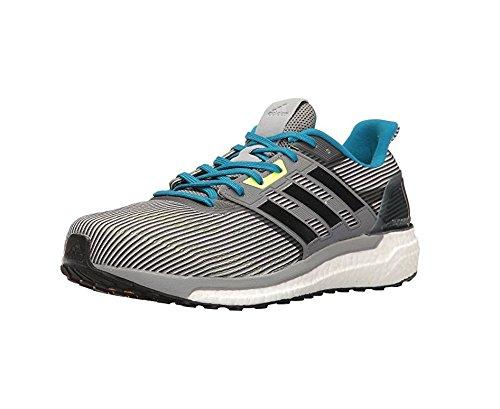 adidas Performance Men's Supernova m Running Shoe, Vista Grey/Black/Unity Blue, 9 Medium - Black Blue Grey