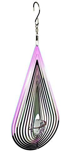 Teardrop Wind Sculpture (Red Carpet Studios Stainless Steel Mirrored Iridescent Wind Spinner, Teardrop)