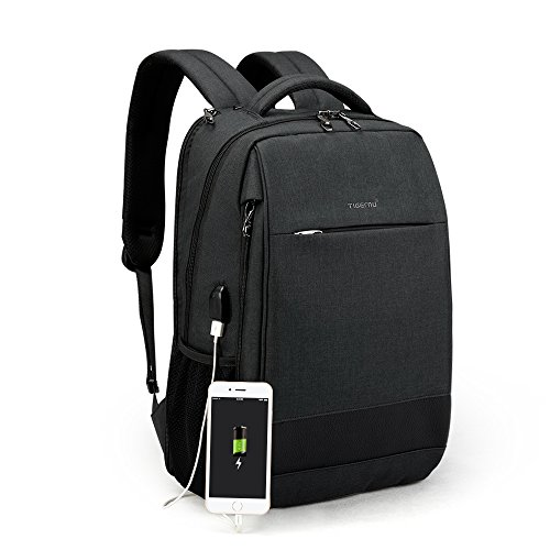 TIGERNU New Fashion Anti Theft Waterproof Laptop Backpack Casual School Computer Backpack Bag with USB Charging Port for Men Women Fit 12 -15.6 Inch Laptop/Macbook - Charge Sunglasses T