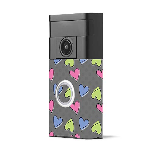 MightySkins Skin for Ring Video Doorbell - Girly | Protective, Durable, and Unique Vinyl Decal wrap Cover | Easy to Apply, Remove, and Change Styles | Made in The USA