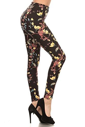 R575-OS Vine Beauty Print Fashion Leggings