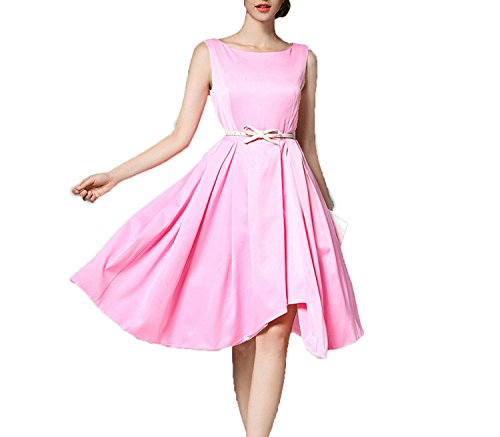2018 Summer New European Station Simple Pleated Pure Color in The Long Section of Slim Dress Dress t