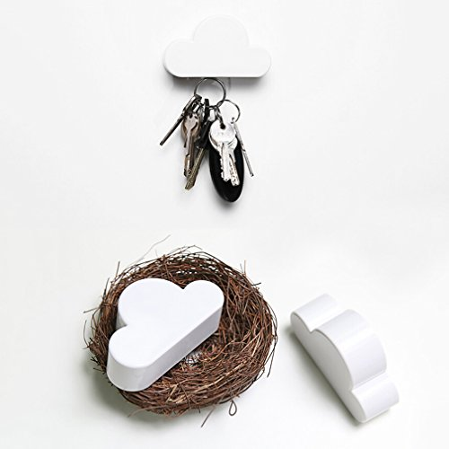 GoldMice Cloud Shaped Magnetic Key Holder Wall Mount Hanging Key Holder Home Wall Decor
