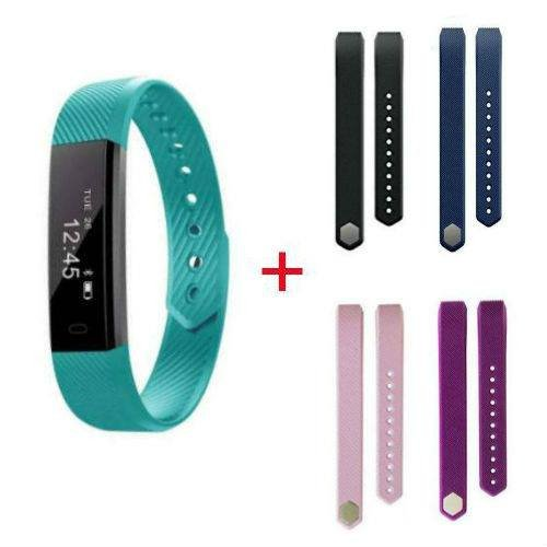 h with Replaceable Band, Fitness Tracker, Activity Tracker Watch with Pedometer, Step Counter - 4 Extra Replacement Straps ()