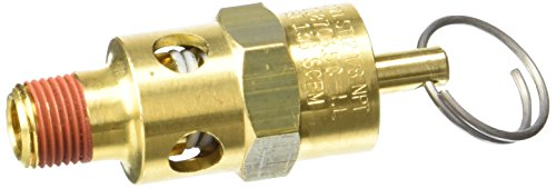 Control Devices ST2512-1A150 ST Series Brass Soft Seat ASME Safety Valve, 150 psi Set Pressure, 1/8 Male (Brass Relief)