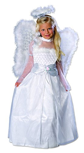 [Rubies Rosebud Angel Child Costume, Medium, One Color] (Angel Wings For Halloween Costumes)