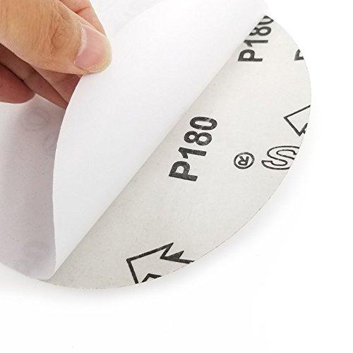 Sackorange 18 PCS 12-Inch NO-Hole PSA Aluminum Oxide Sanding Disc, Self Stick(3 Each of 80 100 120 180 240 400) by SACKORANGE (Image #3)