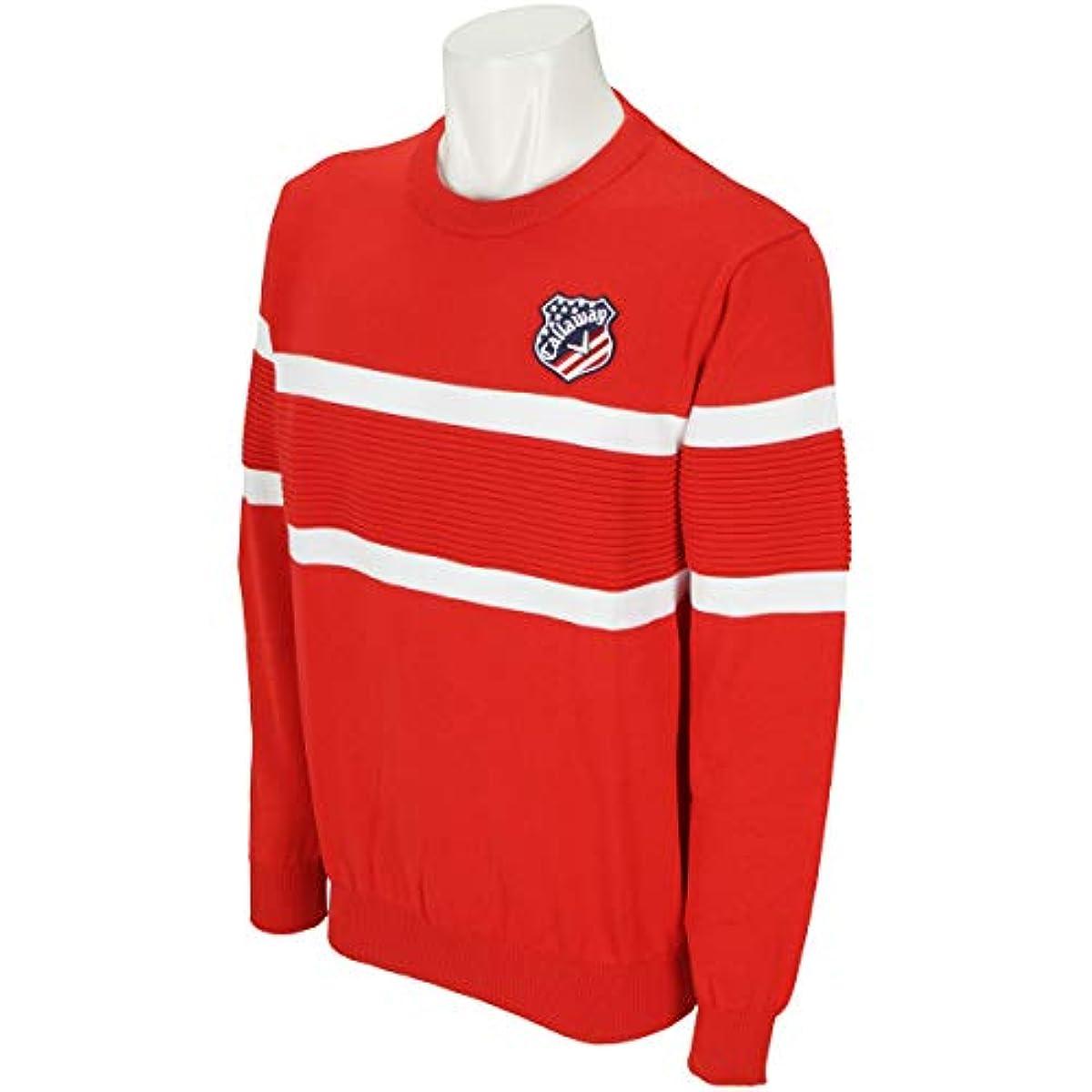 [해외] 캘러웨이고르프 CALLAWAY GOLF 중건착(스웨터,트레이너) 패널 보더 쿨 넥 스웨터