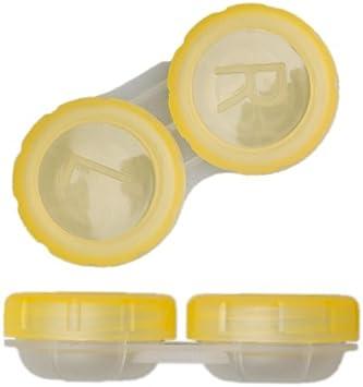 TOP Estuche para lentillas contenedor de almacenaje lentes en recipiente con cierre de rosca vers. Coloures: Amazon.es: Salud y cuidado personal
