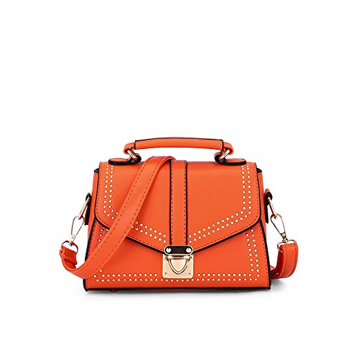 Señora Moda GWQGZ Bolso De Orange Nueva Shoulder Single Fashion Satchel Remaches Violeta 1qfqzT5